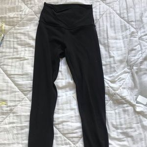 "Black lululemon 28"" aligns"